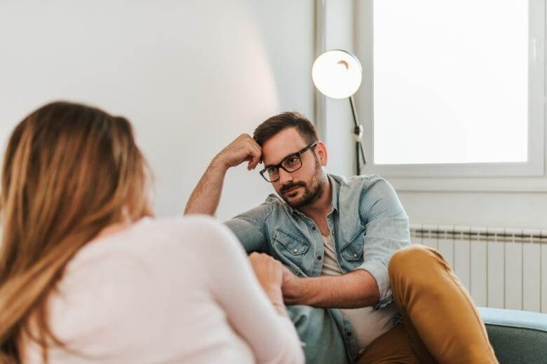 how to be a better listener / man listening to a woman