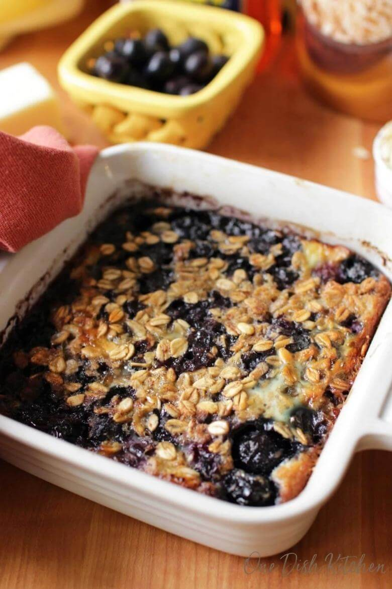 oat casserole with fruit for one