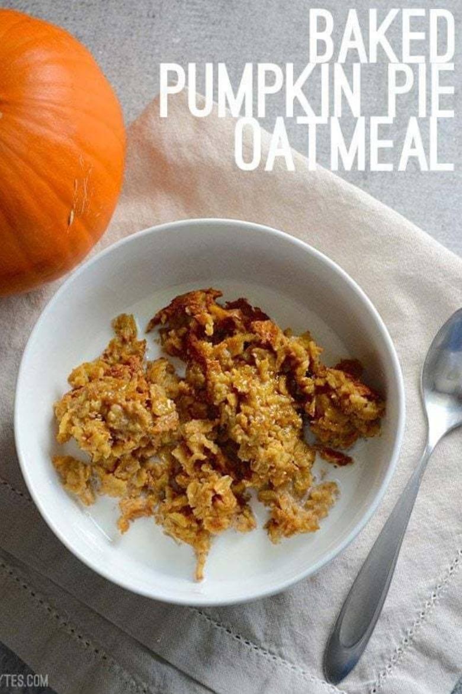 baked pumpkin pie oats
