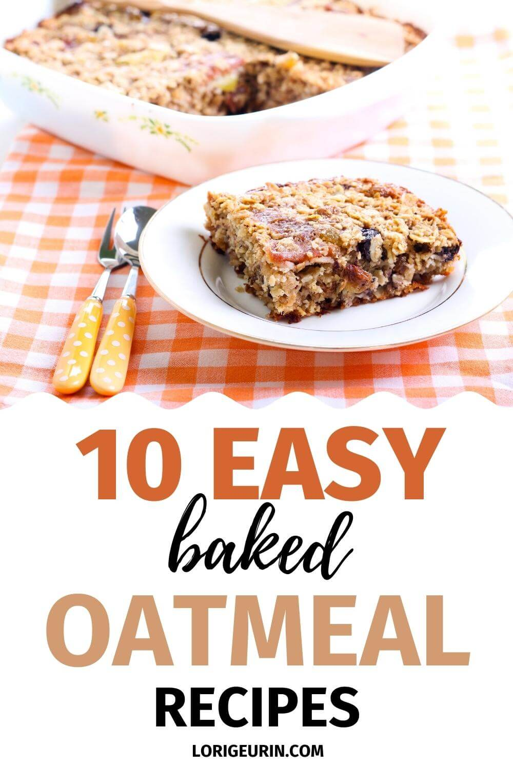baked oatmeal on a plate
