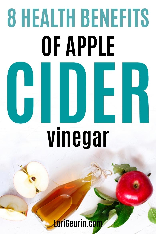 health benefits of apple cider vinegar / ACV and apples