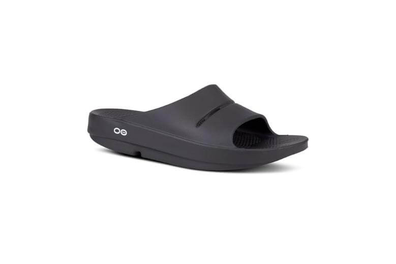 mens oofos slides for plantar fasciitis relief