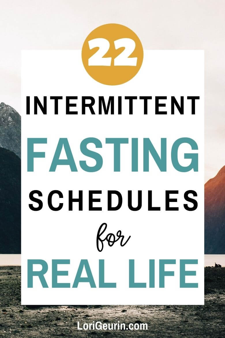 intermittent fasting schedules / sunrise in the mountains