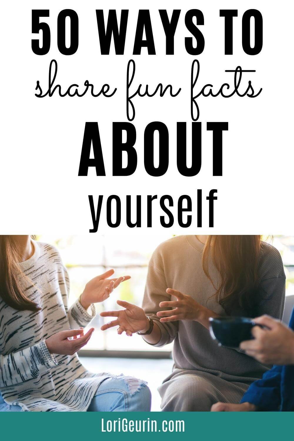 people sharing fun facts in a group