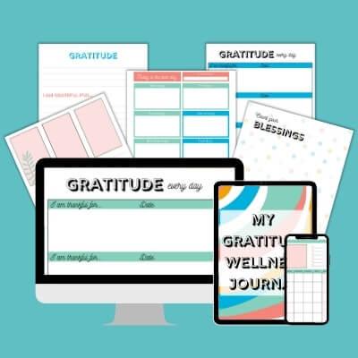 The Gratitude Wellness Journal printable pack