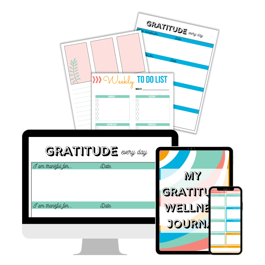 gratitude wellness journal printable pack