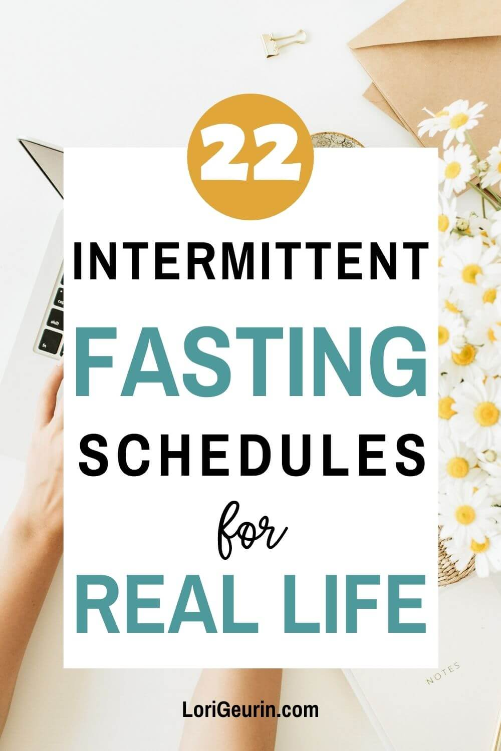 fasting schedules / woman working at her desk