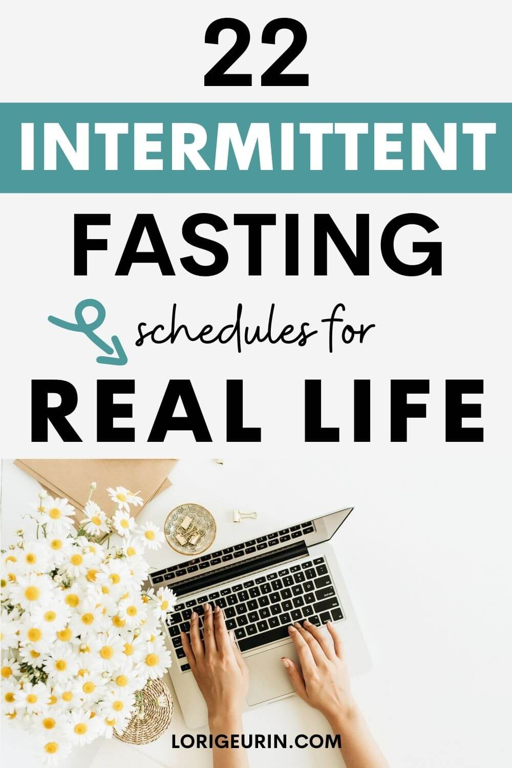 intermittent fasting schedules / woman typing on computer