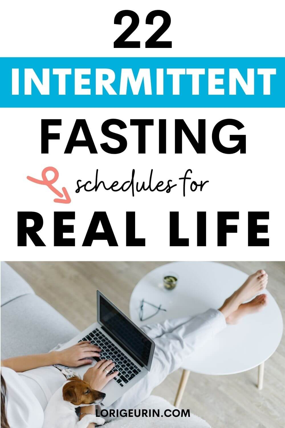 fasting schedules / woman and her dog