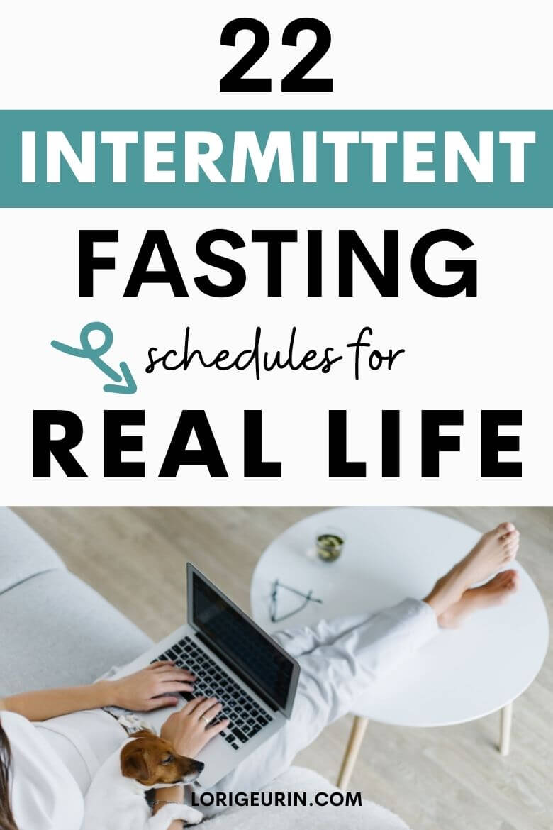 woman typing intermittent fasting schedules on her laptop