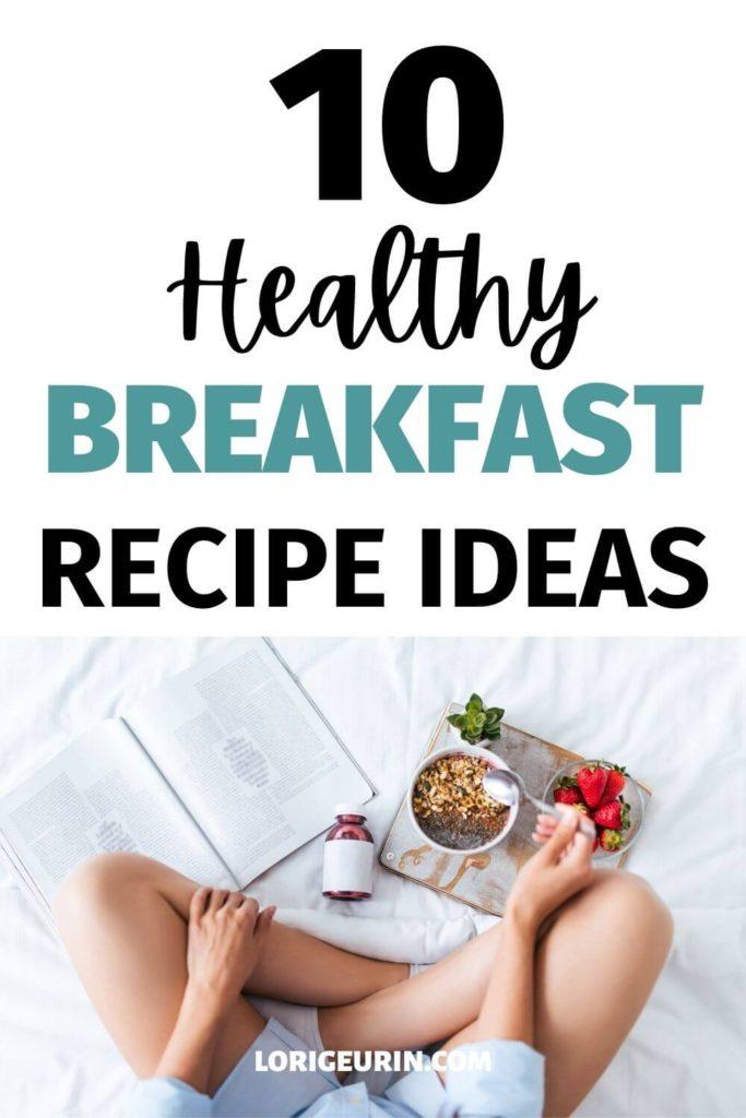 healthy breakfast ideas / girl eating breakfast