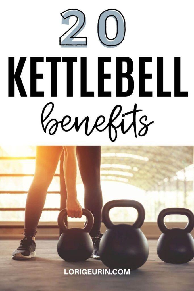 woman doing kettlebell workout