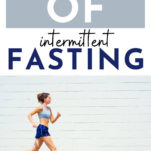 benefits of fasting / woman running outdoors