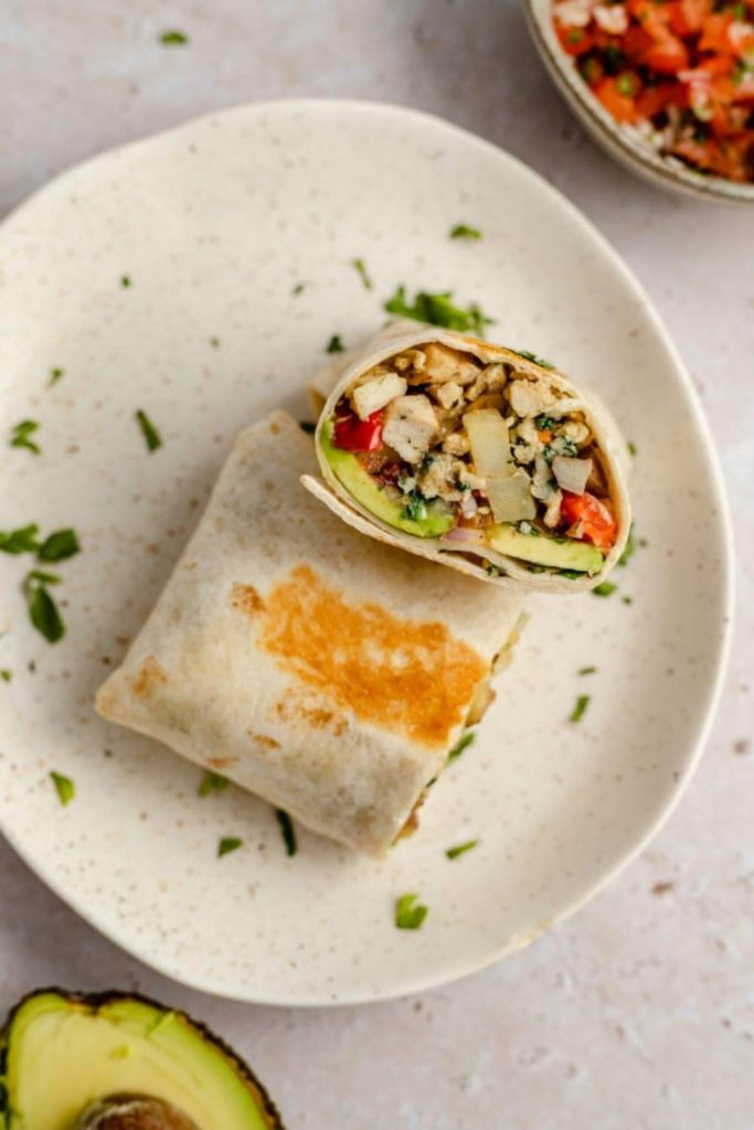 breakfast burritos on a plate