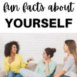share fun facts about yourself / group of friends talking