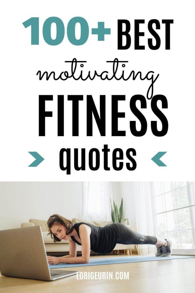 woman doing planks / fitness motivation