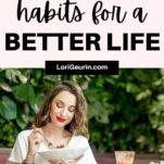 healthy habits / woman eating healthy food