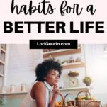 healthy habits / a woman in a kitchen