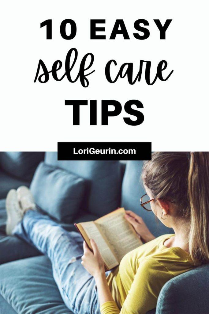 self care / reading a book