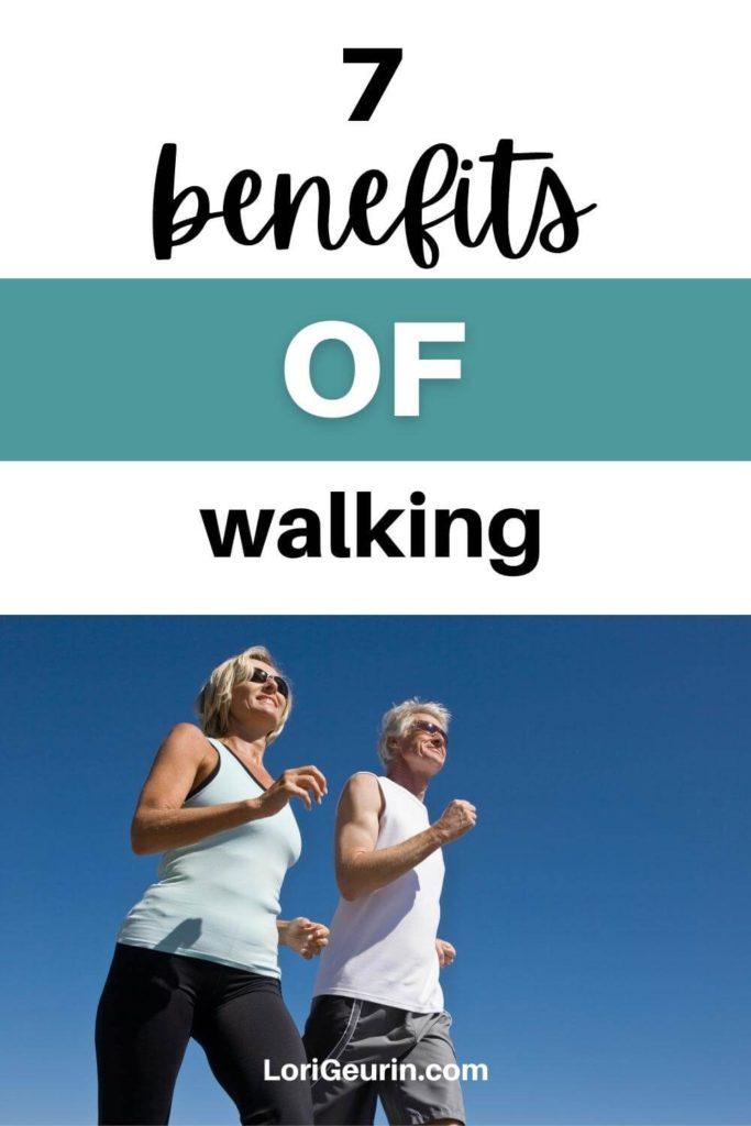 benefits of walking / a couple walking outside