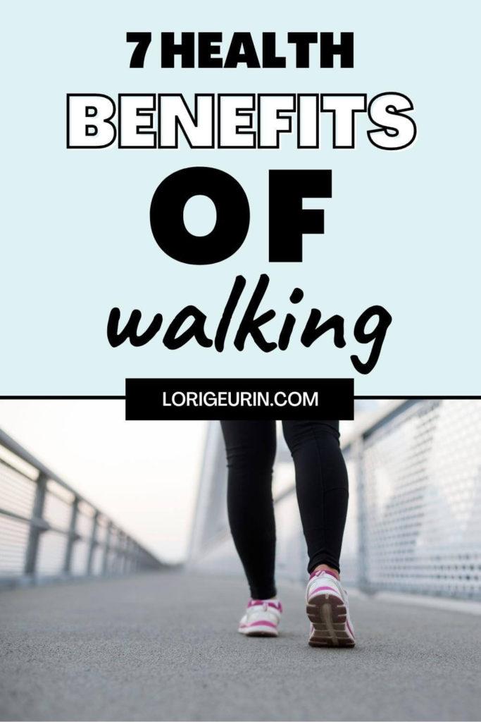 benefits of walking / woman walking outside
