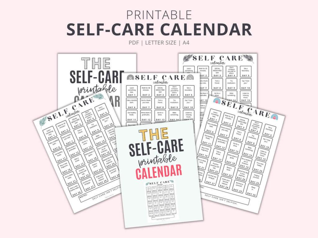 self care calendar