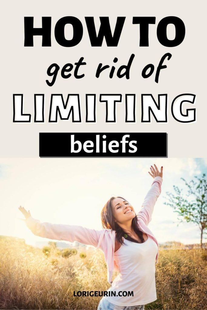 limiting beliefs / happy woman