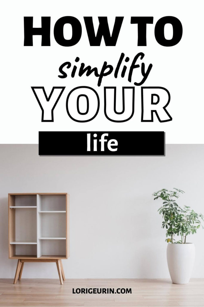 how to simplify your life / white room