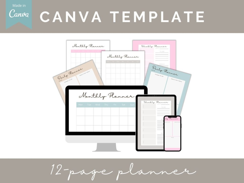 canva planner template