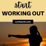 how to start working out for beginners / woman exercising